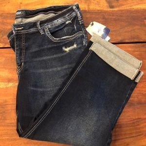 Silver Jeans Co.  'Suki' Capri woman's size 20